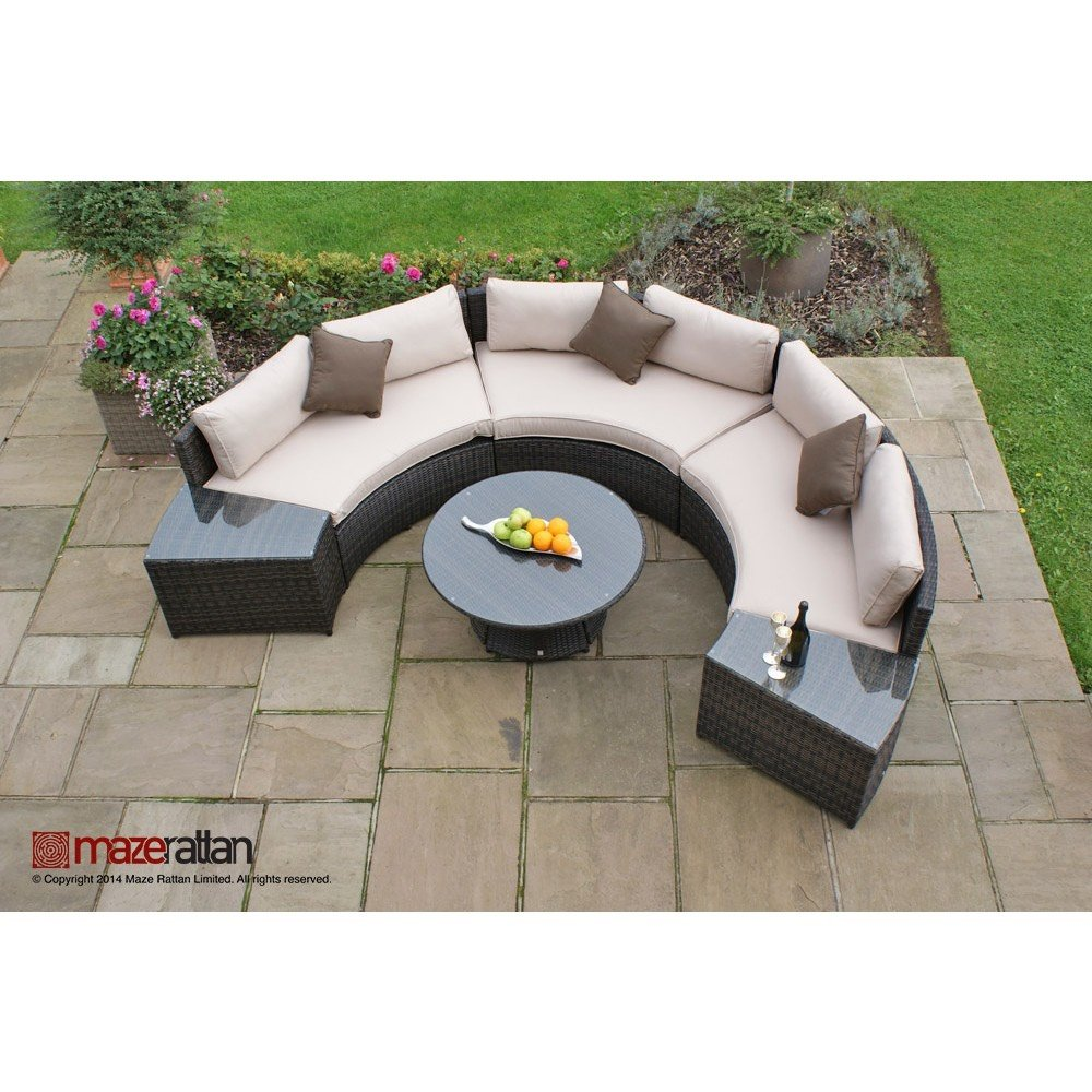Maze Rattan Half Moon Sofa Set The Clearance Zone