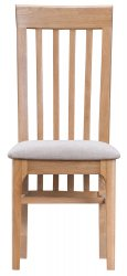 Nordby Dining & Occasional Slat Back Chair with Fabric Seat