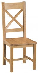 Classic Oakmont Dining & Occasional Cross Back Chair with Wooden Seat