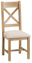 Classic Oakmont Dining & Occasional Cross Back Chair with Fabric Seat