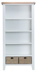 Kettering White Dining & Occasional Large Bookcase