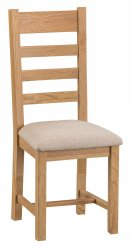 Classic Warwick Dining & Occasional Ladder Back Chair with Fabric Seat