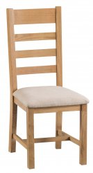 Classic Oakmont Dining & Occasional Ladder Back Chair with Fabric Seat