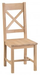 Light Oakmont Dining & Occasional Cross Back Chair with Wooden Seat