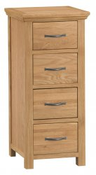 Classic Warwick Bedroom 4 Drawer Narrow Chest