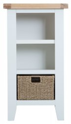 Kettering White Dining & Occasional Small Narrow Bookcase