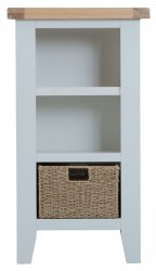 Kettering Grey Dining & Occasional Small Narrow Bookcase
