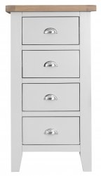 Kettering White Bedroom 4 Drawer Narrow Chest