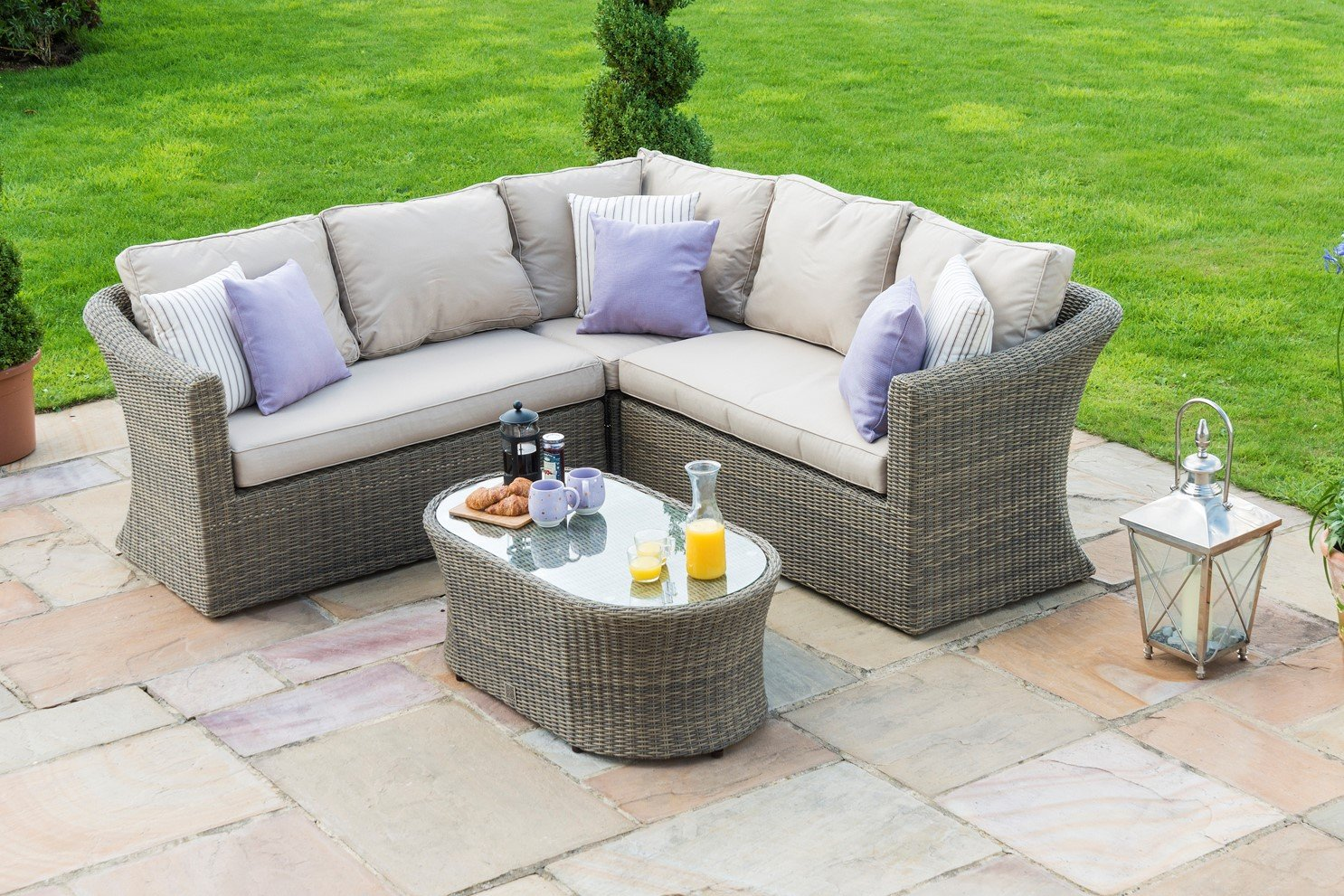 Maze Rattan Winchester Small Corner Group