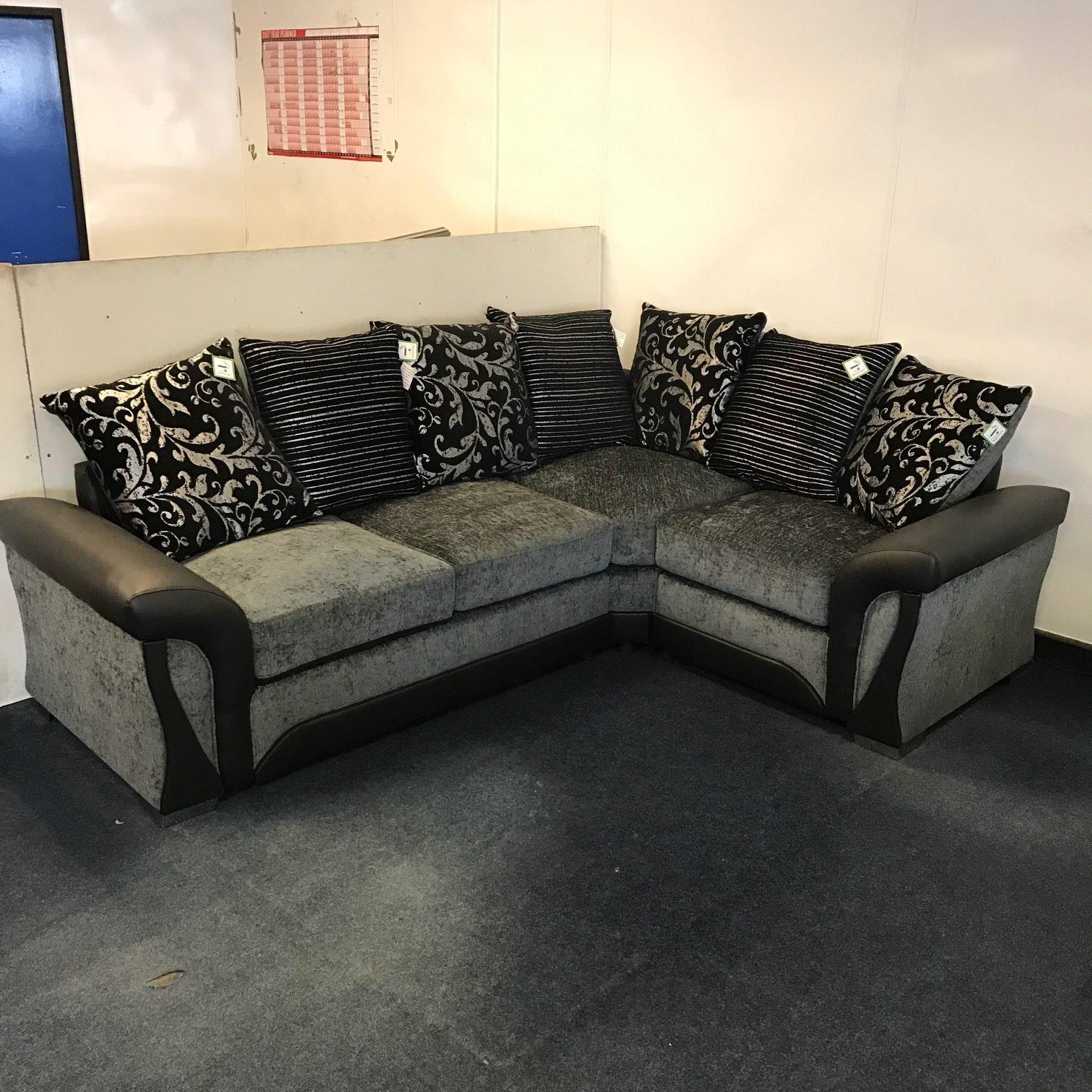 Santiago Corner Sofa - Black/Grey