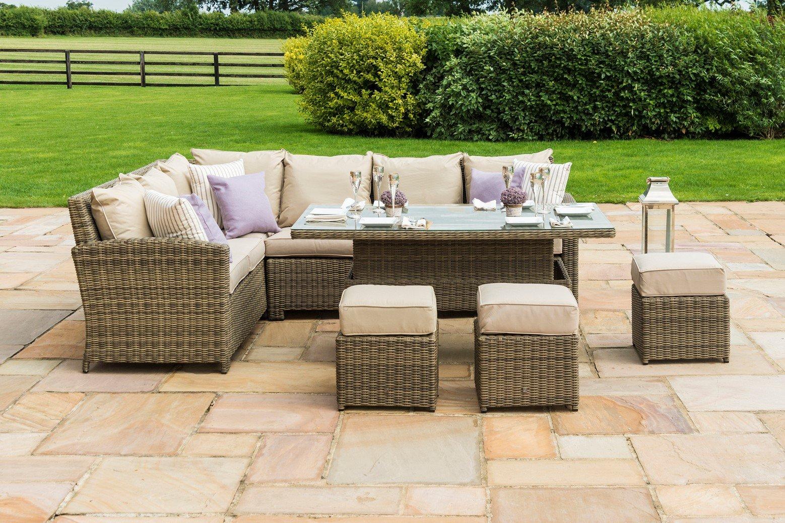 maze rattan winchester kingston corner dining set with. Black Bedroom Furniture Sets. Home Design Ideas