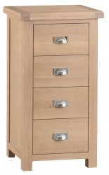 Light Oakmont Bedroom 4 Drawer Narrow Chest