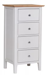 Nordby Painted Bedroom 4 Drawer Narrow Chest
