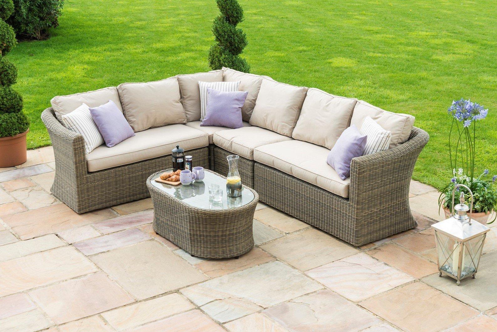 maze rattan winchester large corner sofa set the. Black Bedroom Furniture Sets. Home Design Ideas