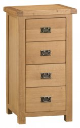 Classic Oakmont Bedroom 4 Drawer Narrow Chest