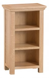 Light Warwick Dining & Occasional Small Narrow Bookcase
