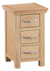 Light Warwick Bedroom Narrow Bedside Cabinet
