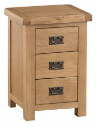 Classic Oakmont Bedroom Large 3 Drawer Bedside Cabinet