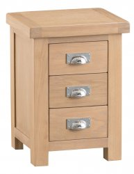 Light Oakmont Bedroom 3 Drawer Bedside Cabinet