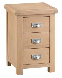 Light Oakmont Bedroom Large 3 Drawer Bedside Cabinet