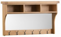 Classic Oakmont Dining & Occasional Hall Shelf Unit with Mirror