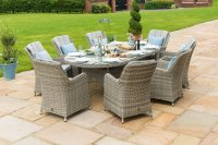 Maze Rattan - Oxford 8 Seat Oval Dining Set With Venice Chairs