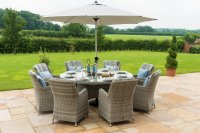 Maze Rattan - Oxford 8 Seat Round Dining Set With Venice Chairs