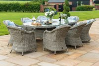 Maze Rattan - Oxford 8 Seat Oval Dining Set With Round Chairs