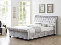 Celine Double Bed Frame - Silver