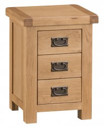 Classic Oakmont Bedroom 3 Drawer Bedside Cabinet
