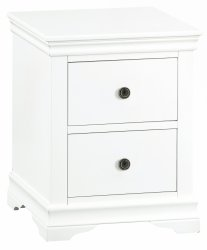 Swanley White Bedroom Large Bedside Cabinet