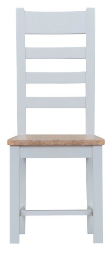 Kettering Grey Dining & Occasional Ladder Back Chair with Wooden Seat