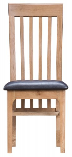 Nordby Dining & Occasional Slat Back Chair with PU Seat