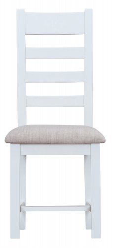 Kettering White Dining & Occasional Ladder Back Chair with Fabric Seat