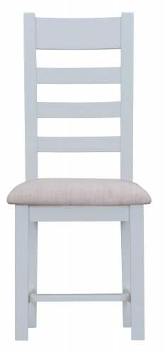 Kettering Grey Dining & Occasional Ladder Back Chair with Fabric Seat