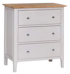 Nordby Painted Bedroom 3 Drawer Chest