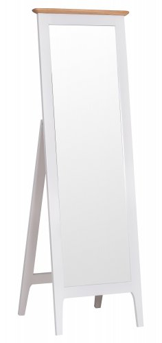 Nordby Painted Bedroom Cheval Mirror