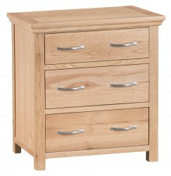 Light Warwick Bedroom 3 Drawer Chest