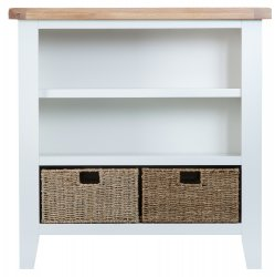 Kettering White Dining & Occasional Small Wide Bookcase