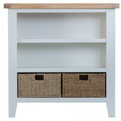 Kettering Grey Dining & Occasional Small Wide Bookcase