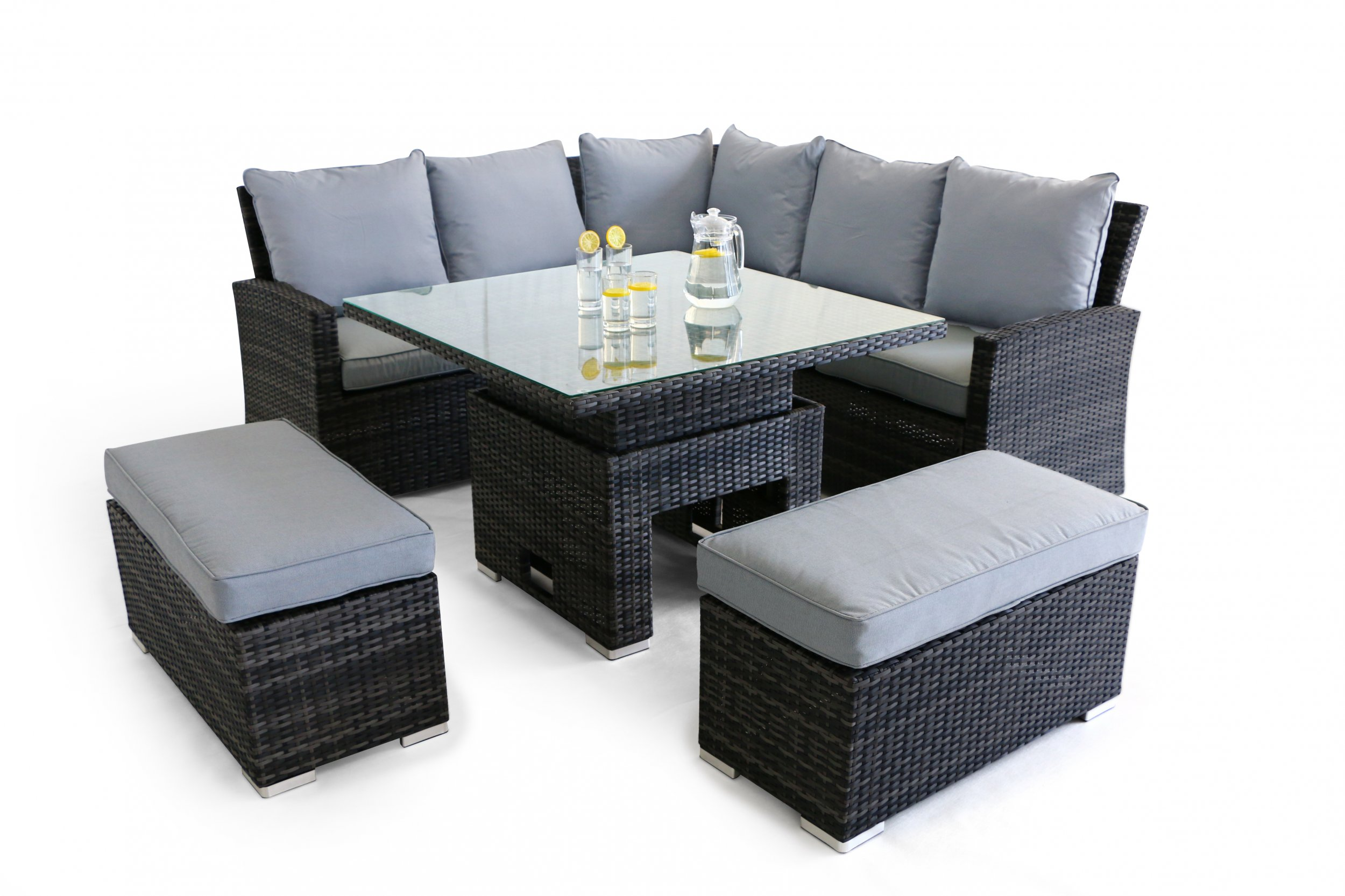 Maze Rattan Richmond Corner Dining Set With Dual