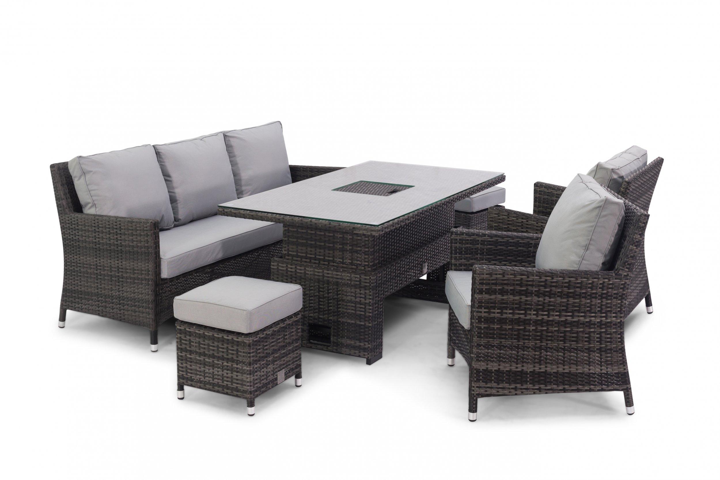 Maze Rattan Venice Sofa Dining Set With Dual Position