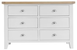 Kettering White Bedroom 6 Drawer Chest