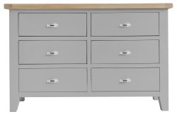 Kettering Grey Bedroom 6 Drawer Chest