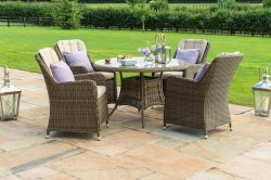 Maze Rattan - Winchester Venice 4 Seat Round Dining Set