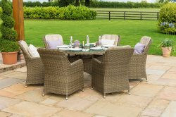 Maze Rattan - Winchester 6 Seat Round - With Venice Chairs