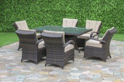 Maze Rattan Texas Rectangular 6 Seater Set
