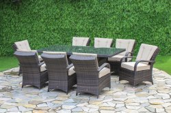 Maze Rattan Texas 8 Seater Rectangular Dining Set