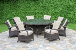 Maze Rattan Texas 8 Seater Round Dining Set