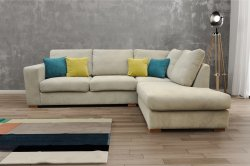 Milan Corner Sofa - Cream